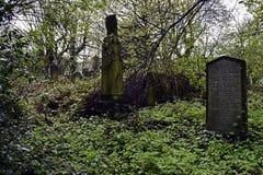 Cemitério do assombro e assustador Foto de Stock Royalty Free