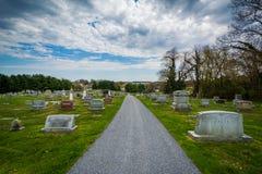 Cemitério do bosque do pinho na montagem pairosa, Maryland fotografia de stock royalty free