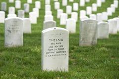 Cemitério do cemitério de Arlington fotos de stock royalty free