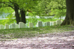 Cemitério do cemitério de Arlington imagens de stock
