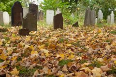 Cemitério do Colonial de Metuchen Fotografia de Stock