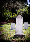 Cemitério do Headstone do cemitério Imagens de Stock