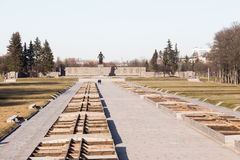 Cemitério do memorial de Piskaryovskoye Foto de Stock Royalty Free