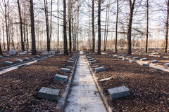 Cemitério do memorial de Piskaryovskoye Fotografia de Stock Royalty Free