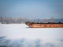 Cemitério do navio do inverno Imagens de Stock