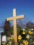 Cemitério do ponto crucial Imagem de Stock Royalty Free