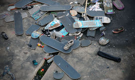 Cemitério do skate Fotografia de Stock