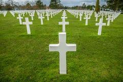 Cemitério do sur Mer de Colleville Imagem de Stock Royalty Free