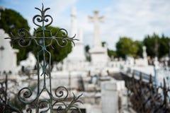 Cemitério dos dois pontos, Havana Fotografia de Stock Royalty Free