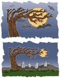 Cemitério e bastões Imagem de Stock Royalty Free