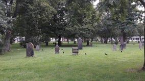 Cemitério e corvos Imagens de Stock