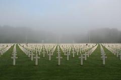 Cemitério e memorial americanos de Luxemburgo Imagem de Stock