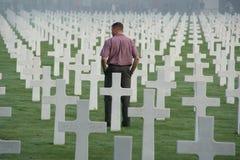 Cemitério e memorial americanos de Luxemburgo Fotografia de Stock