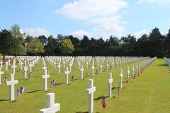Cemitério e memorial americanos de Normandy fotos de stock