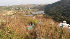 Cemitério em Cherrapunjee imagens de stock royalty free