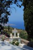 Cemitério em Crete imagens de stock