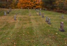 Cemitério em outubro fotografia de stock royalty free