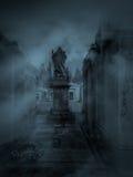 Cemitério escuro foto de stock royalty free