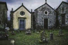 Cemitério europeu pequeno Fotos de Stock