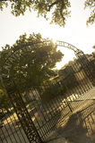 Cemitério famoso de Lafayette em Nova Orleães fotografia de stock