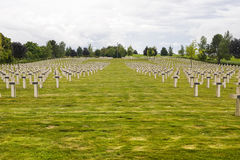 Cemitério francês em Champagne-Ardenne Imagens de Stock Royalty Free