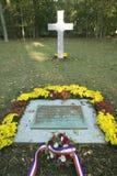 Cemitério francês onde 50 soldados franceses que perderam suas vidas no cerco de Yorktown, 1781, são enterrados, Histor nacional  Fotos de Stock