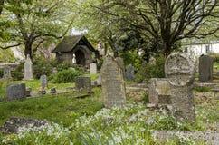 Cemitério Gwithian da cruz celta Foto de Stock Royalty Free