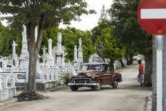 Cemitério Havana dos dois pontos dos visitantes Fotografia de Stock