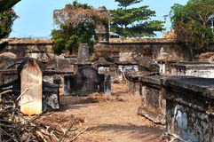 Cemitério holandês no forte Kochi Fotos de Stock Royalty Free