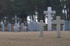 Cemitério infinito no Polônia fotografia de stock