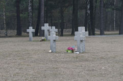 Cemitério infinito no Polônia foto de stock royalty free