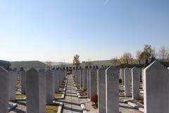 Cemitério islâmico muçulmano Foto de Stock