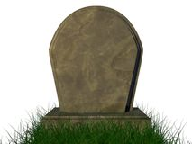 Cemitério izolated no fundo branco Fotografia de Stock Royalty Free