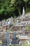 Cemitério japonês Foto de Stock Royalty Free