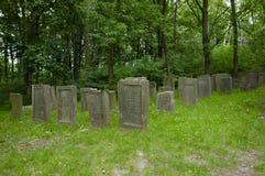Cemitério judaico - Lezajsk - Polônia fotografia de stock