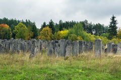 Cemitério judaico velho, Brody, Ucrânia imagens de stock