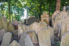 Cemitério judaico velho em Praga Imagem de Stock Royalty Free
