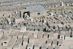 Cemitério judaico velho na montagem das azeitonas Fotos de Stock Royalty Free