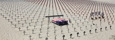 Cemitério memorável na praia de Santa Monica, Califórnia Foto de Stock Royalty Free