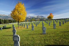 Cemitério militar Fotografia de Stock Royalty Free