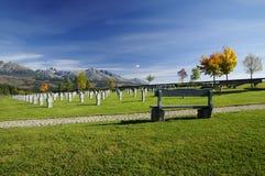 Cemitério militar Fotos de Stock