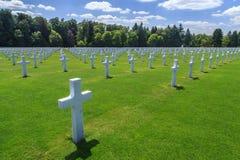 Cemitério militar Fotografia de Stock