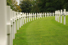 Cemitério militar Fotos de Stock Royalty Free