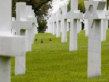 Cemitério militar americano fotografia de stock royalty free