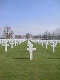 Cemitério militar americano Foto de Stock