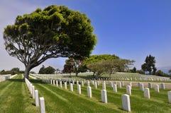 Cemitério militar americano no Point Loma Fotos de Stock