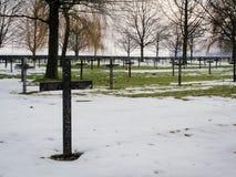Cemitério militar da primeira guerra mundial do alemão em Vermandovillers, Fra Imagens de Stock Royalty Free