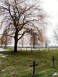 Cemitério militar da primeira guerra mundial do alemão em Vermandovillers, Fra Foto de Stock