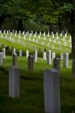 Cemitério militar de Lawton do forte, parque da descoberta, Seattle, Washington imagens de stock