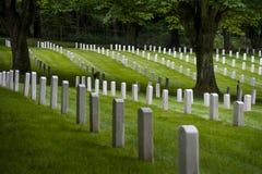 Cemitério militar de Lawton do forte, parque da descoberta, Seattle, Washington fotos de stock royalty free